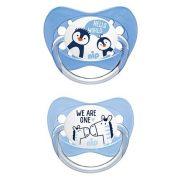 Nip Family latex játszócumi 5-18 hó 2 db (kék) - zebra, pingvin