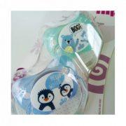 Nip Family latex játszócumi 5-18 hó 2 db (kék) - maci, pingvin
