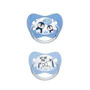 Nip Family latex játszócumi 16-32 hó 2 db (kék) - zebra, pingvin