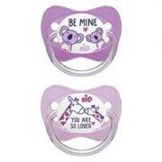 Nip Family latex játszócumi 16-32 hó 2 db (rózsaszín, lila) - zsiráf, koala