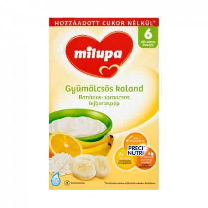 MEGSZŰNT - Milupa Gyümölcsös Kaland banános-narancsos tejberizspép 6 hó+ (250 g)