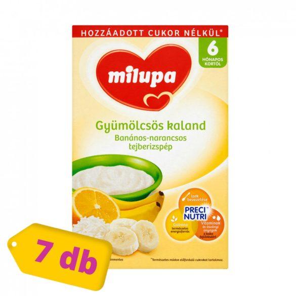 Milupa Gyümölcsös Kaland banános-narancsos tejberizspép 6 hó+ (7x250 g)