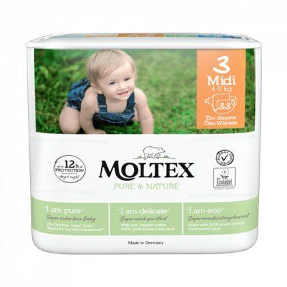 MOLTEX Pure&Nature öko pelenka, Midi 3, 4-9 kg, 33 db