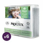 MOLTEX Pure&Nature öko pelenka, Maxi 4, 7-18 kg HAVI PELENKACSOMAG 174 db