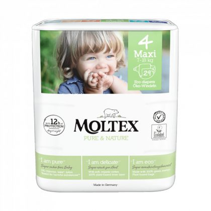 MOLTEX Pure&Nature öko pelenka, Maxi 4, 7-18 kg, 29 db