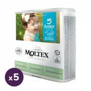 MOLTEX Pure&Nature öko pelenka, Junior 5, 11-25 kg HAVI PELENKACSOMAG 125 db