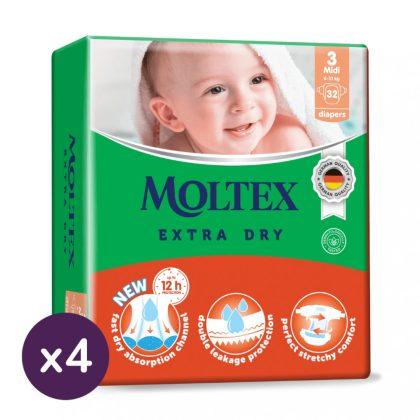 MOLTEX Extra Dry nadrágpelenka, Midi 3, 6-10 kg HAVI PELENKACSOMAG 200 db