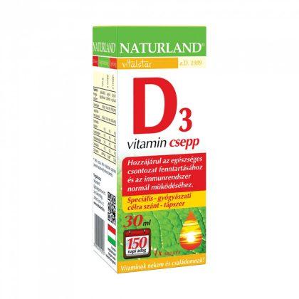 Kifutott - Naturland D3-vitamin csepp (30 ml)