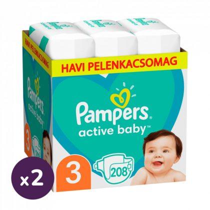 Pampers Active Baby Midi 3, 6-10 kg 1+1 AKCIÓ 416 db