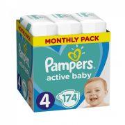 Pampers Active Baby Maxi 4, 9-14 kg HAVI PELENKACSOMAG 174 db
