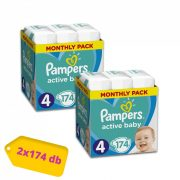 Pampers Active Baby Maxi 4, 9-14 kg 1+1 AKCIÓ 348 db