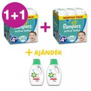 Pampers Active Baby Maxi 4+, 10-15 kg 1+1 AKCIÓ 304 db + AJÁNDÉK