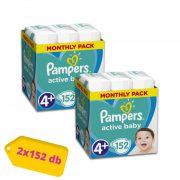 Pampers Active Baby Maxi 4+, 10-15 kg 1+1 AKCIÓ 304 db