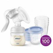 Avent SCF330/20 Natural kézi mellszívó + Ajándék 5db VIA pohár 180 ml