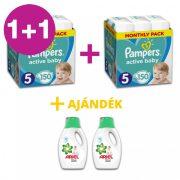 Pampers Active Baby Junior 5, 11-16 kg 1+1 AKCIÓ 300 db + AJÁNDÉK