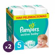 Pampers Active Baby Junior 5, 11-16 kg 1+1 AKCIÓ 300 db