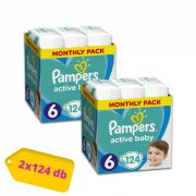 Pampers Active Baby Junior+ 6, 13-18 kg 1+1 AKCIÓ 248 db