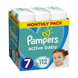 Pampers Active Baby XL 7, 15 kg+ HAVI PELENKACSOMAG 112 db