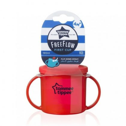 Tommee Tippee FreeFlow First Cup pohár 190ml 4hó+ (piros)