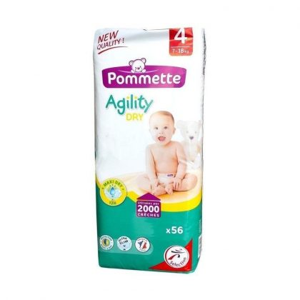 Pommette Agility Dry pelenka, Maxi 4, 7-18 kg, 56 db