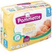 Pommette Newborn pelenka, Újszülött 1, 2-5 kg, 27 db