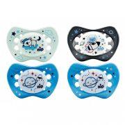 Nip night szilikonos játszócumi világítós 0-6 hóig 2 db viziló és elefánt mintával