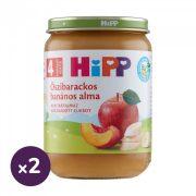 Hipp BIO őszibarackos-banános alma, 4 hó+ (2x190 g)