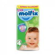 Molfix pelenka, Maxi+ 4+, 9-16 kg, 54 db