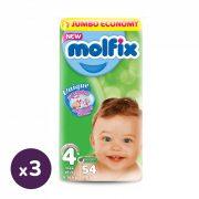 Molfix pelenka, Maxi+ 4+, 9-16 kg, HAVI PELENKACSOMAG 3x54 db