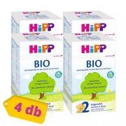 Hipp 2 BIO tejalapú, anyatej-kiegészítő tápszer 6 hó+ (4x600 g)