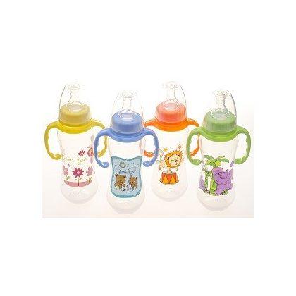BabyBruin cumisüveg fogóval 240 ml (kék) - maci