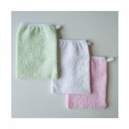 BabyBruin mosdókesztyű (fehér, zöld)