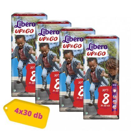 Libero UP&GO bugyipelenka XL+ 8, 19-30 kg, HAVI PELENKACSOMAG 4x30 db