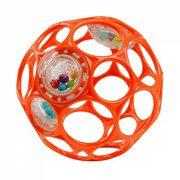 Oball csörgős játék 10 cm - narancssárga (0 hó+)