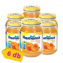 Hamánek bébidesszert alma-sárgabarack, 4 hó+ (6x190 g)