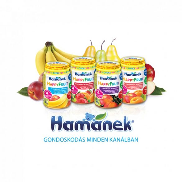 MEGSZŰNT - Hamánek bébidesszert alma-sárgabarack, 4 hó+ (6x190 g)