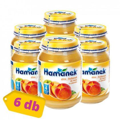 Hamánek bébidesszert alma-őszibarack, 4 hó+ (6x190 g)