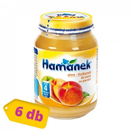 MEGSZŰNT - Hamánek bébidesszert alma-őszibarack, 4 hó+ (6x190 g)