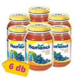 Hamánek bébidesszert alma-áfonya, 4 hó+ (6x190 g)