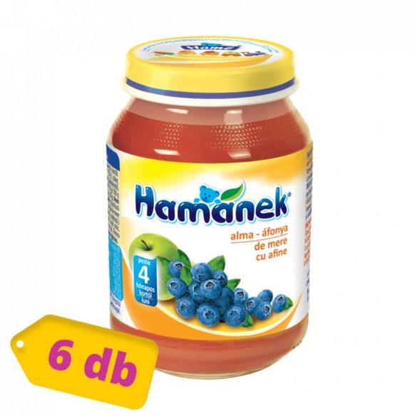 MEGSZŰNT - Hamánek bébidesszert alma-áfonya, 4 hó+ (6x190 g)