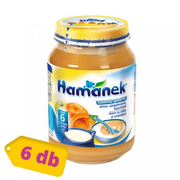 MEGSZŰNT - Hamánek bébidesszert alma - sárgabarack tejszínnel uzsonna, 6 hó+ (6x190 g)