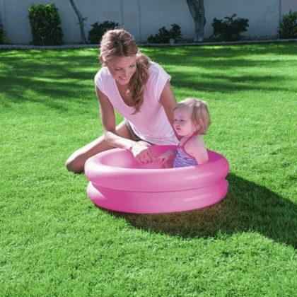 Bestway kétgyűrűs rózsaszín baba medence (61x15 cm)