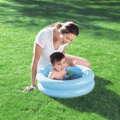 Bestway kétgyűrűs kék baba medence (61x15 cm)