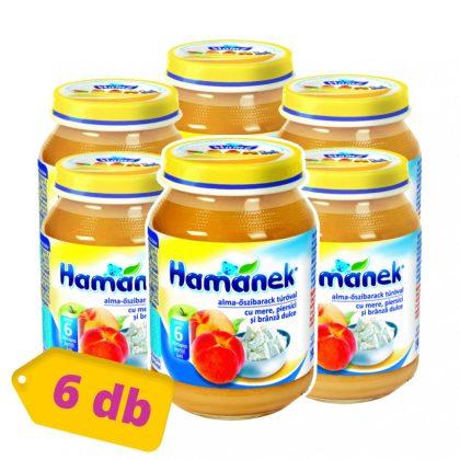 MEGSZŰNT - Hamánek bébidesszert alma - őszibarack túróval, 5 hó+ (6x190 g)