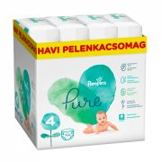 Pampers Pure Protection pelenka, Maxi 4, 9-15 kg, HAVI PELENKACSOMAG 320 db