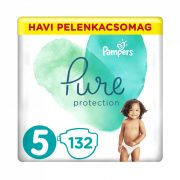 Pampers Pure Protection pelenka, Junior 5, 11-16 kg, 132 db