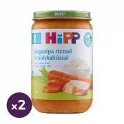 Hipp BIO sárgarépa rizzsel és pulykahússal, 8 hó+ (2x220 g)