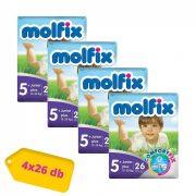 Molfix nadrágpelenka, Junior+ 5+, 13-20 kg HAVI PELENKACSOMAG 4x26 db