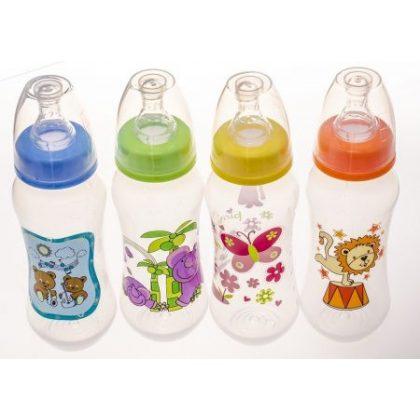 BabyBruin cumisüveg 240 ml (narancssárga) - oroszlán
