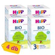 Hipp 3 BIO tejalapú, anyatej-kiegészítő tápszer 10 hó+ (4x600 g)